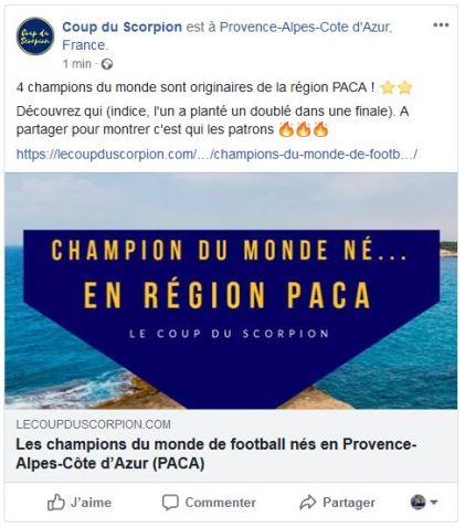 facebook champion du monde de football nés en région paca provence alpes cote d azur