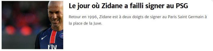 le jour où zidane a failli signer au paris saint germain psg 1996