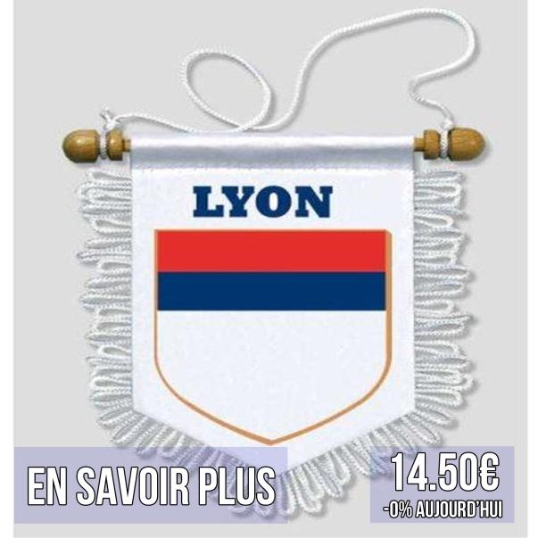 fanion de match supporter olympique lyonnais ol lyon idées cadeaux pour supporters football le coup du scorpion coupduscorpion.jpg