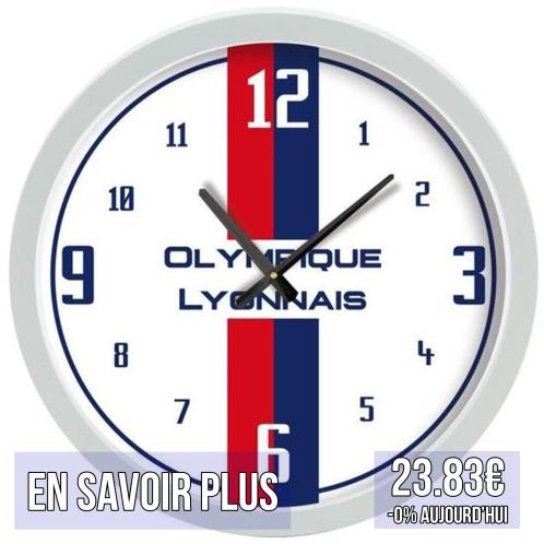 horloge fan décoration déco murale olympique lyonnais ol lyon idées cadeaux pour supporters football le coup du scorpion coupduscorpion.jpg