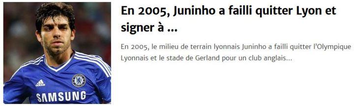 juninho a failli quitter lyon en 2005 pour le chelsea fc coupduscorpion coup du scorpion histoire de transferts anecdotes transferts