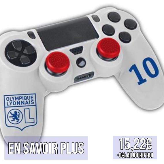 sticker customisation manette playstation 4 ps4 gaming olympique lyonnais ol lyon idées cadeaux pour supporters football le coup du scorpion coupduscorpion