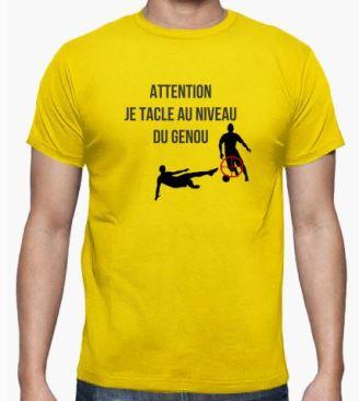 attention je tacle au niveau du genou football amateur foot district création le coup du scorpion humour drole cadeau original.JPG