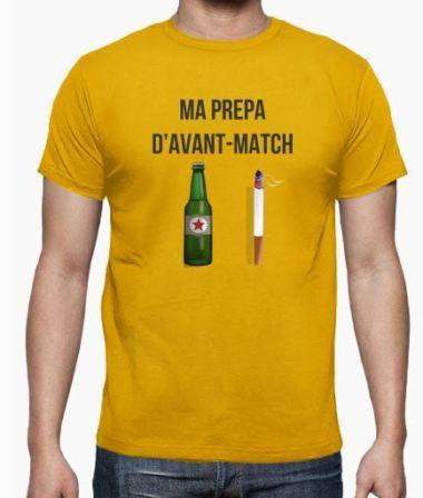 ma prepa d avant match foot amateur cigarette bière création drole humour le coup du scorpion.JPG
