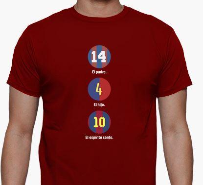 johan cruyff le pere pep guardiola le fils lionel messi le saint esprit t shirt fan du fc barcelona barcelone
