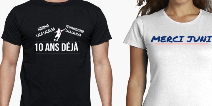 t shirt original drole supporter lyon olympique lyonnais ol juninho pernambucano